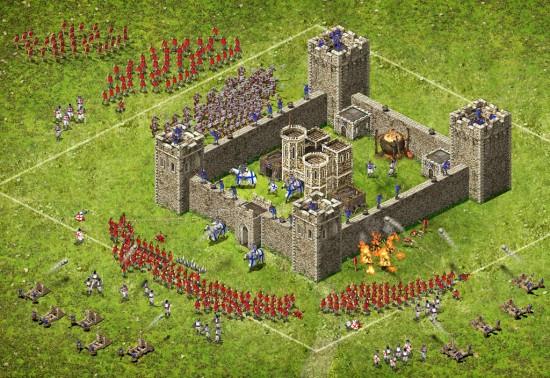 Ein Angriff auf eine Befestigung
